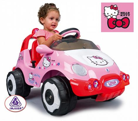 Coche de carreras Hello Kitty