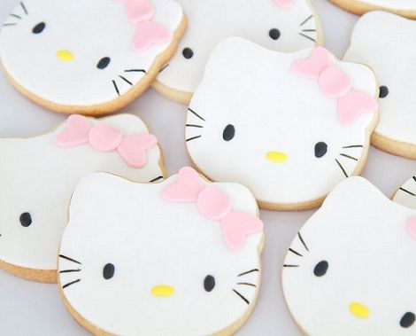 cookies hello kitty rosas  - Galletas de Hello Kitty con fondant