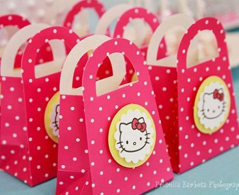 hello kitty cumpleanos bolsas