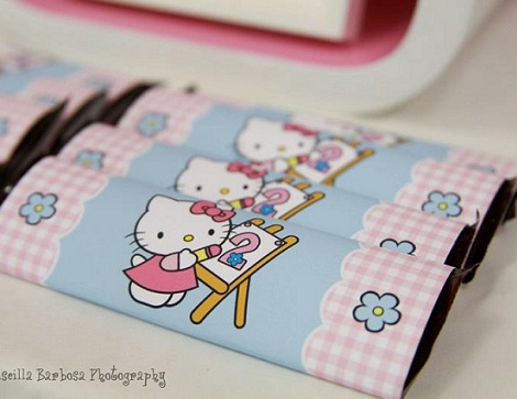 hello kitty cumpleanos chocolatina