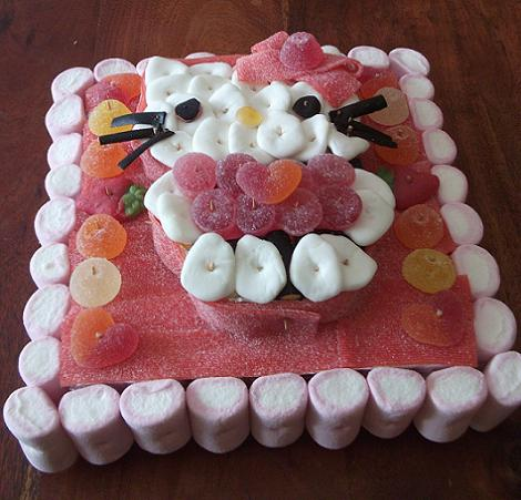 Tarta de chuches Hello Kitty
