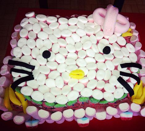 Tarta de gominolas Hello Kitty