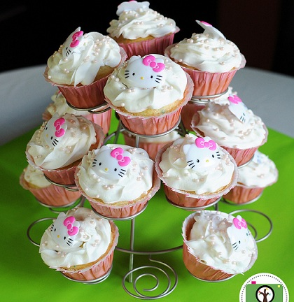 cupcakes cumple hello kitty  - Cumple Hello Kitty