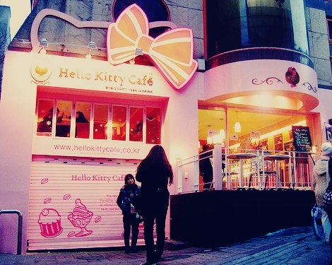 fotos divertidas hello kitty cafeteria