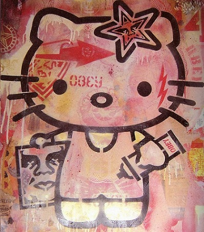 fotos hello kitty curiosas graffiti