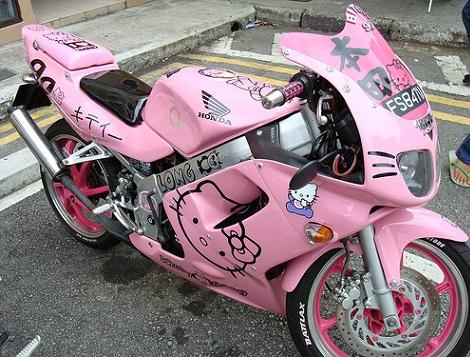 fotos hello kitty curiosas moto