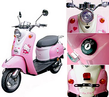fotos hello kitty curiosas vespa