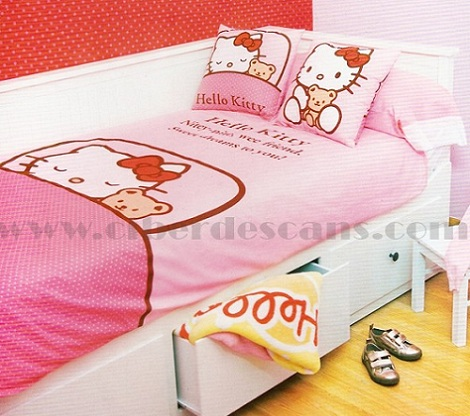fundas nórdicas hello kitty durmiendo