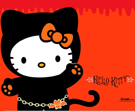 hello kitty halloween gato  - Hello Kitty Halloween