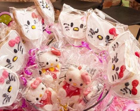 ideas cumpleaños hello kitty galletas  - Ideas para tu cumpleaños de Hello Kitty