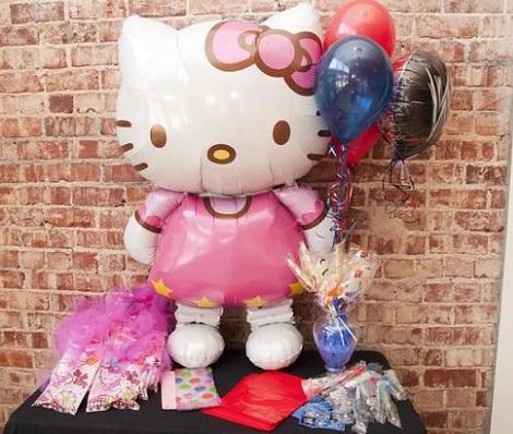 ideas cumpleaños hello kitty globos  - Ideas para tu cumpleaños de Hello Kitty