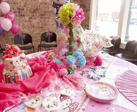 ideas cumpleaños hello kitty mesa  - Ideas para tu cumpleaños de Hello Kitty