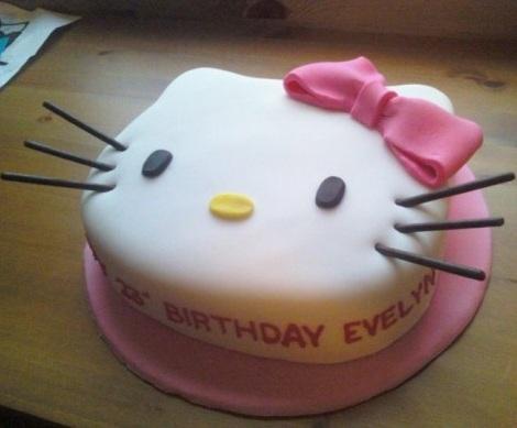 ideas hello kitty tarta cabeza forma