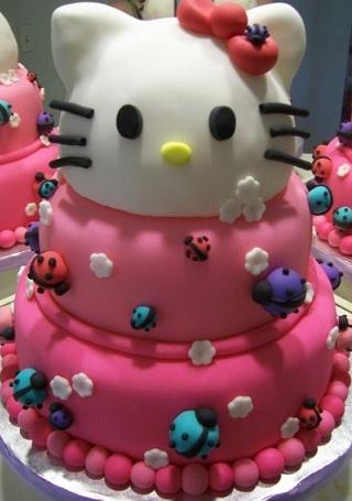 ideas hello kitty tarta mariquitas