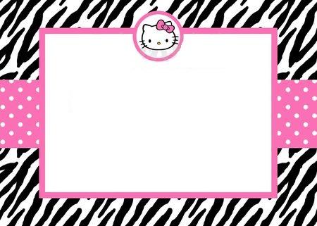 invitaciones cumpleaños hello kitty cebra