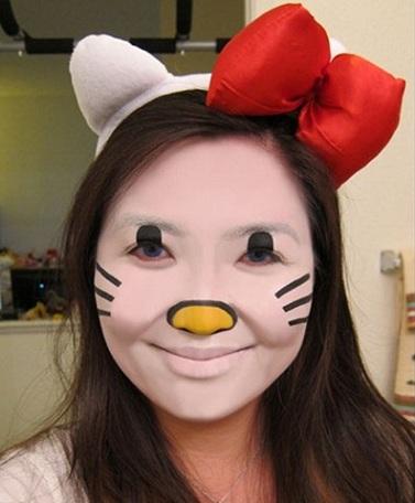 maquillaje hello kitty disfraz