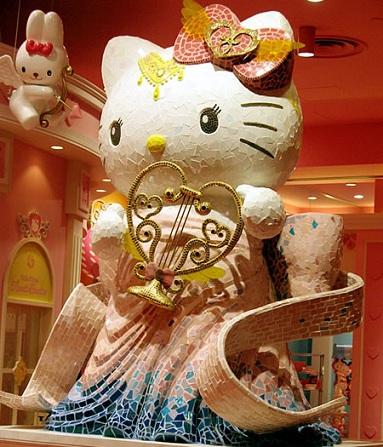parque temático hello ktity decoración  - Parque temático de Hello Kitty