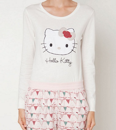 pijamas hello kitty oysho otoño