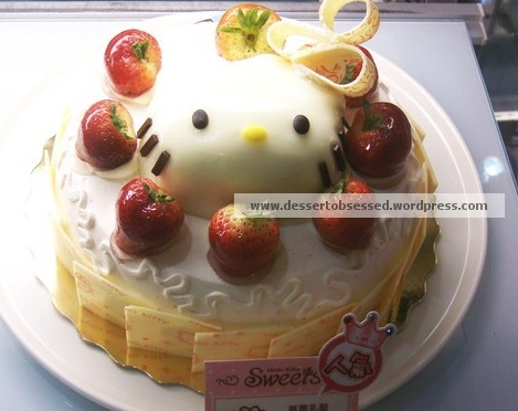 postres hello kitty tarta fresas