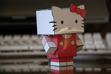 Recortable Hello Kitty  - Hello Kitty de papel