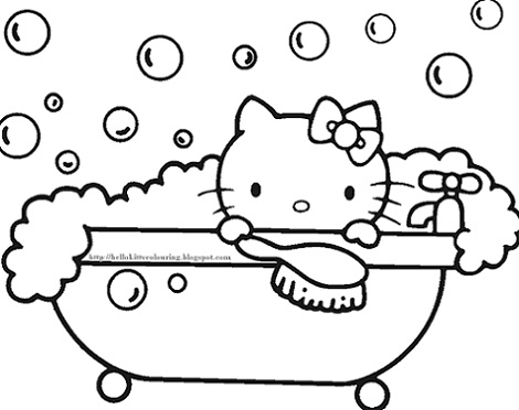 6 dibujos de hello kitty para imprimir gratis baño