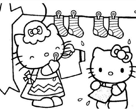 6 dibujos hello kitty imprimir gratis