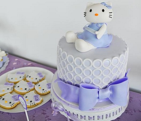 baby shower hello kitty tarta