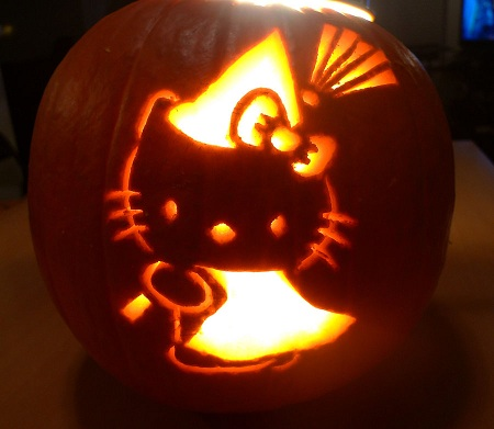 calabazas halloween hello kitty bruja
