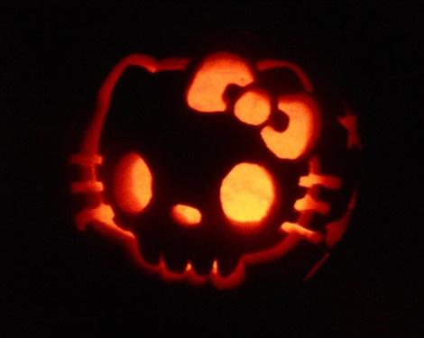 calabazas halloween hello kitty calabera  - Calabazas Halloween Hello Kitty