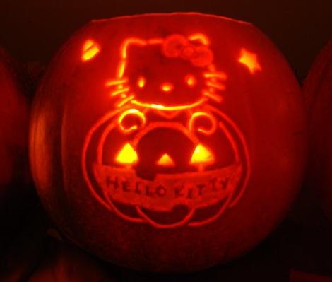 calabazas halloween hello kitty nombre  - Calabazas Halloween Hello Kitty
