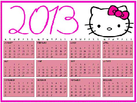 encontrar este calendario Hello Kitty 2013 en la tienda de Amazon