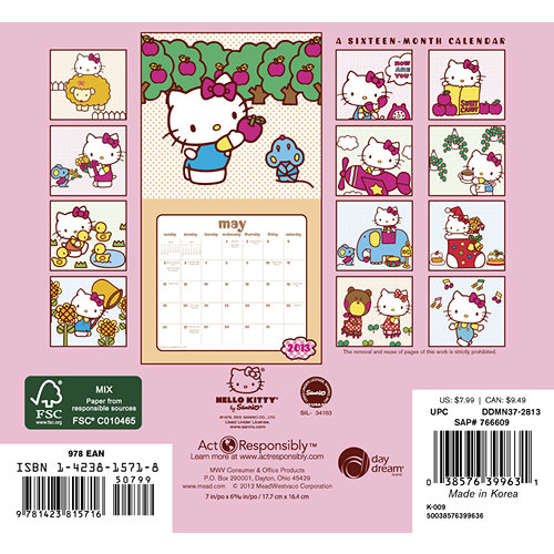 Calendario Hello Kitty de pared