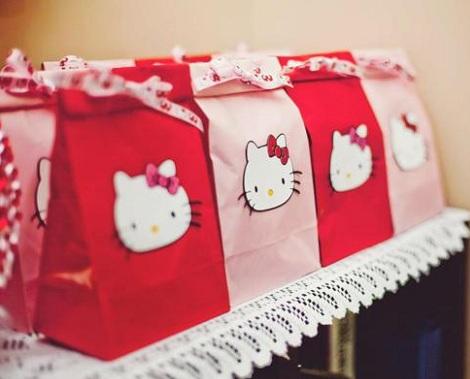 cumpleanos hello kitty rosa bolsitas