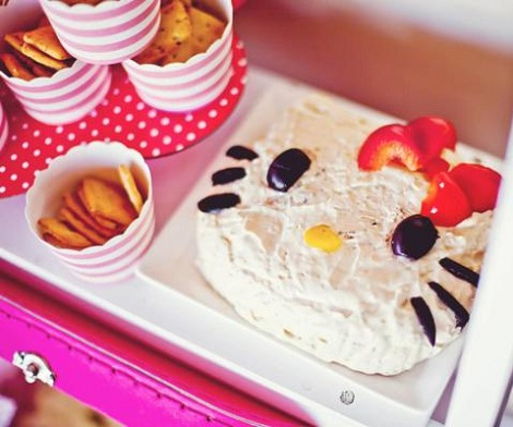 cumpleaños hello kitty rosa comida
