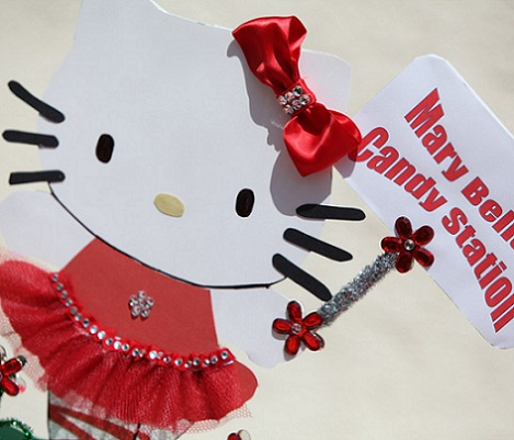 cumpleaños un año hello kitty invitaciones