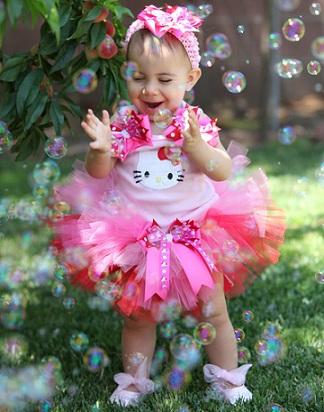 cumpleaños un año hello kitty   - Cumpleaños de un año de Hello Kitty