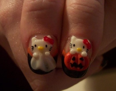 hello kitty halloween unas gel