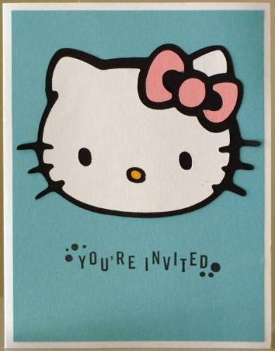 hello kitty invitaciones simple