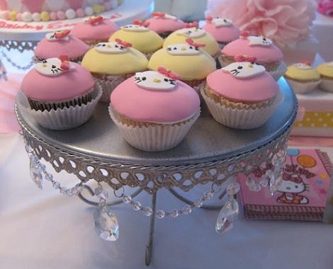 ideas cumpleaños hello kitty cupcakes