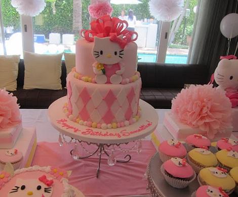 ideas cumpleaños hello kitty tarta