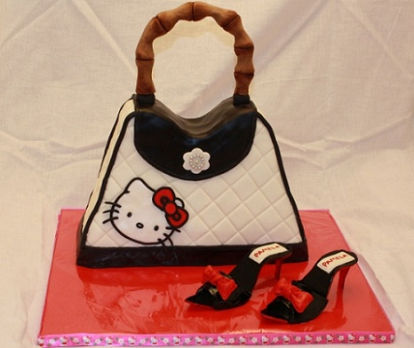 ideas tarta hello kitty bolso