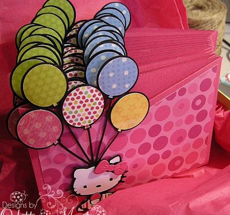 invitaciones cumpleaños hello kitty caseras globos