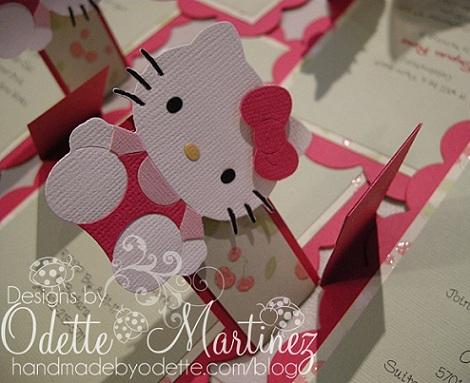 invitaciones cumpleaños hello kitty caseras pestaña