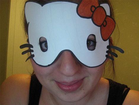 Máscara de Hello Kitty