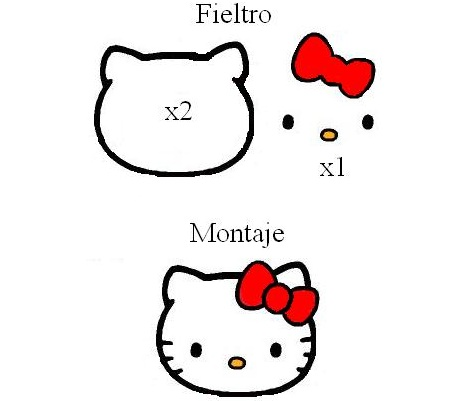 patrones fieltro hello kitty