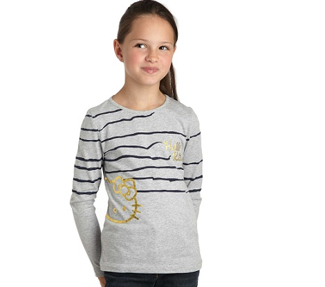 ropa hello kitty kiabi camiseta gris