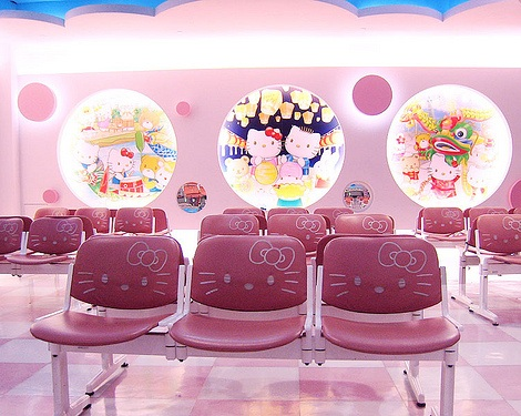 aeropuerto hello kitty asientos