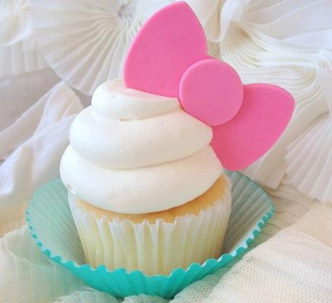 cupcakes hello kitty lazo