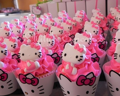cupcakes hello kitty  - Cupcakes de Hello Kitty