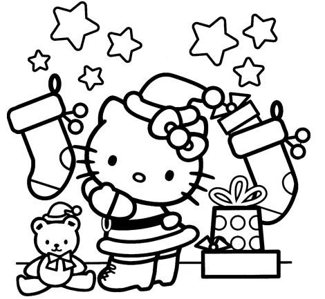 Worksheet. Dibujos Hello Kitty Navidad